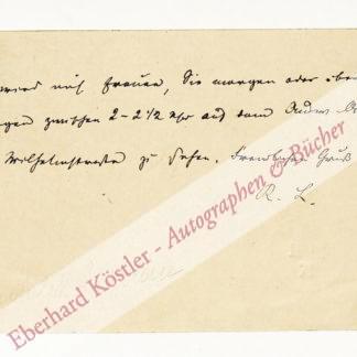 Lindau, Rudolf, Schriftsteller und Diplomat (1829-1910).