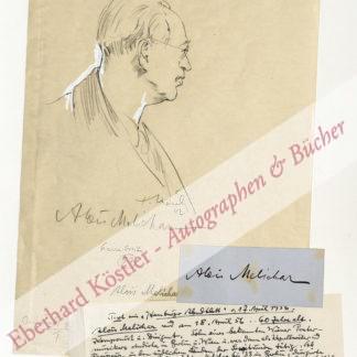 Melichar, Alois, Komponist und Dirigent (1896-1976).