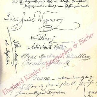 Wagner, Siegfried, Komponist, Dirigent, Sohn Richard Wagners (1869-1930).