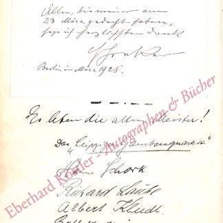 Schreker, Fanz, Komponist (1878-1934).