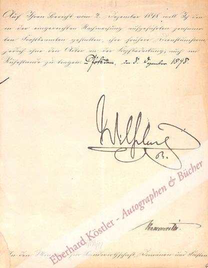 Wilhelm II. von Preußen, Deutscher Kaiser (1859-1941).