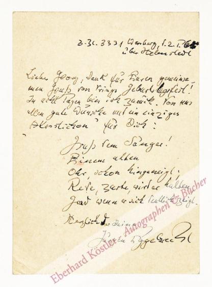 Eggebrecht, Jürgen, Schriftsteller und Journalist (1898-1982).