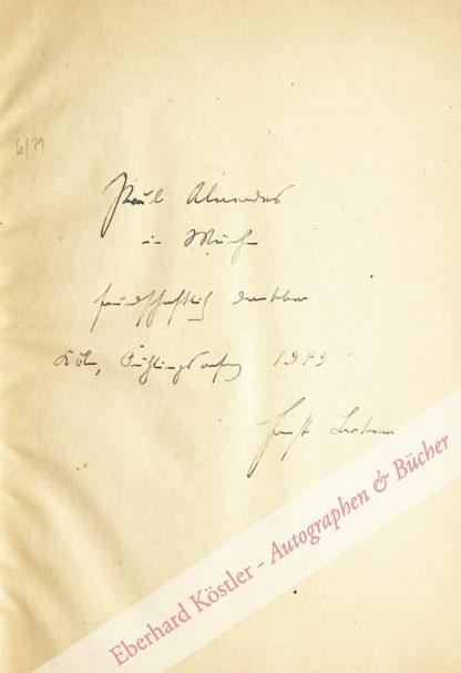 Bertram, Ernst, Schriftsteller und Germanist (1884-1957).