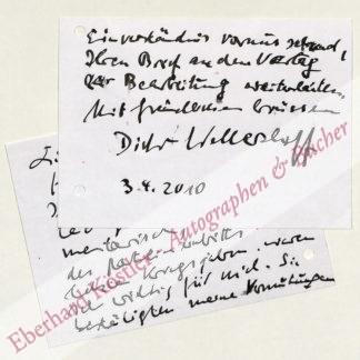 Wellershoff, Dieter, Schriftsteller (geb. 1925).