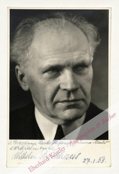 Backhaus, Wilhelm, Pianist (1884-1969).