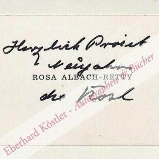 Albach-Retty, Rosa, Schauspielerin (1874-1980).