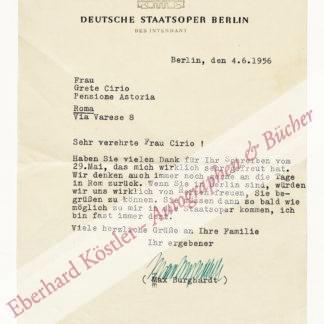 Burghardt, Max, Schauspieler, Intendant und Präsident des Kulturbundes der DDR (1893-1977).