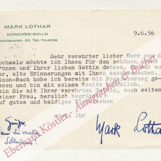 Lothar, Mark, Komponist (1902-1985).