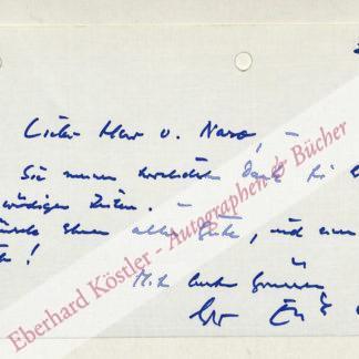 """Ode, Erik, Schauspieler, der """"Kommissar"""" (1910-1983)."""