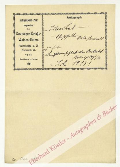 Bab, Julius, Schriftsteller (1880-1955).