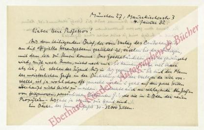 Bernhart, Joseph, Schriftsteller und Theologe (1881-1969).