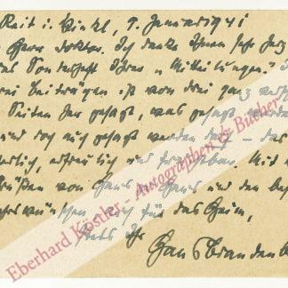 Brandenburg, Hans, Schriftsteller (1885-1968).