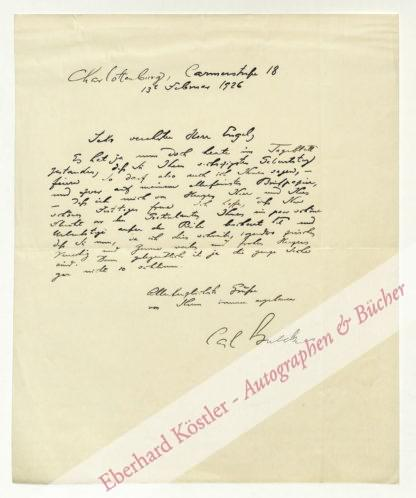 Bulcke, Carl, Schriftsteller (1875-1936).