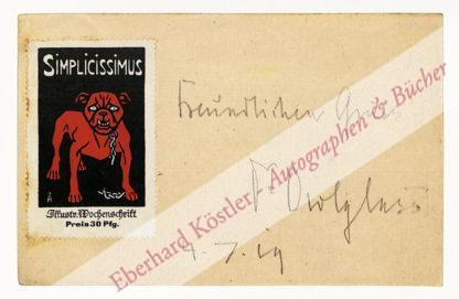 Blaich, Hans Erich (Pseud. Dr. Owlglass), Schriftsteller und Arzt (1867-1948).
