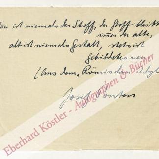 Ponten, Josef, Schriftsteller (1883-1940).