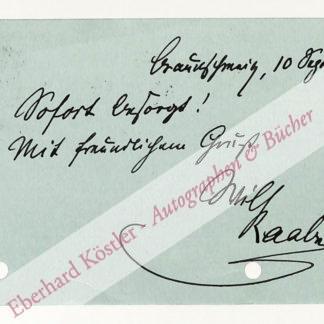 Raabe, Wilhelm, Schriftsteller (1831-1910).