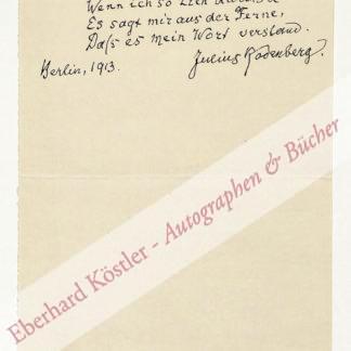 Rodenberg, Julius, Schriftsteller (1831-1914).