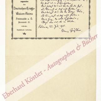 Geißler, Max, Schriftsteller und Redakteur (1868-1945).