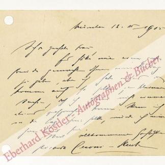 Huch, Ricarda, Schriftstellerin (1864-1947).