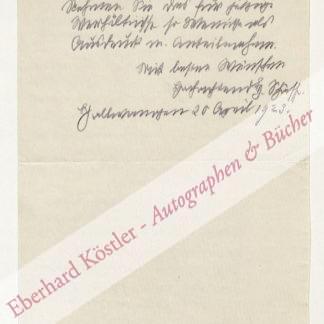 Schäff, Heinrich [d. i. Hermann Zerweck], Schriftsteller und Maler (1862-1937).