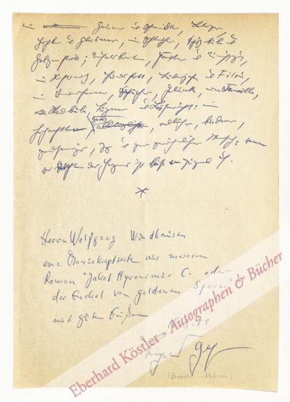 Ahlsen, Leopold, Schriftsteller und Theaterregisseur (geb. 1927).