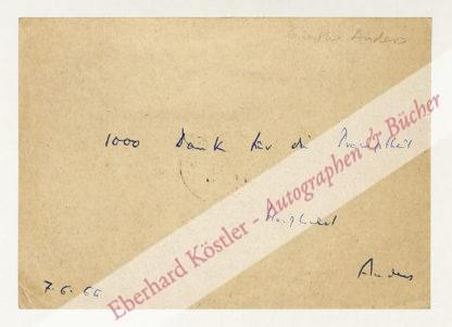 Anders, Günther, Philosoph und Schriftsteller (1902-1992).