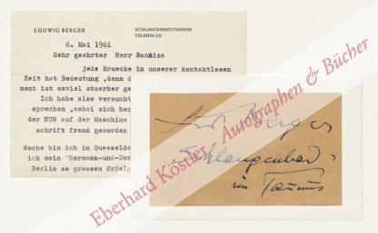 Berger, Ludwig, Schriftsteller (1892-1969).