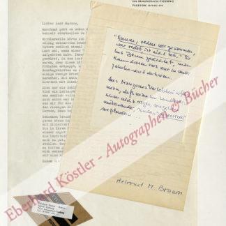 Braem, Helmut M.,, Schriftsteller und Übersetzer (1922-1977).