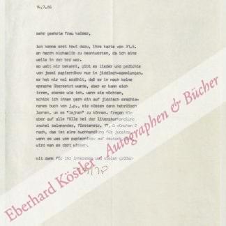 Broder, Henryk M.,, Schriftsteller (geb. 1946).