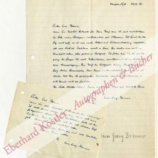 Brenner, Hans Georg, Schriftsteller und Verleger (1903-1961).