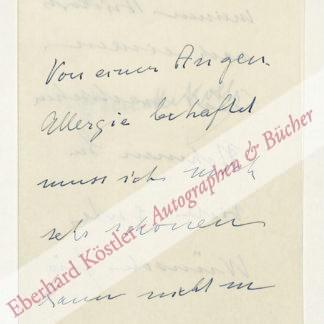 Kolb, Annette, Schriftstellerin (1870-1967).