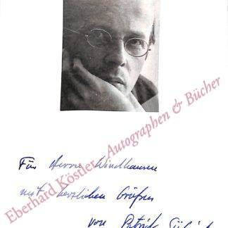 Süskind, Patrick, Schriftsteller (geb. 1949).