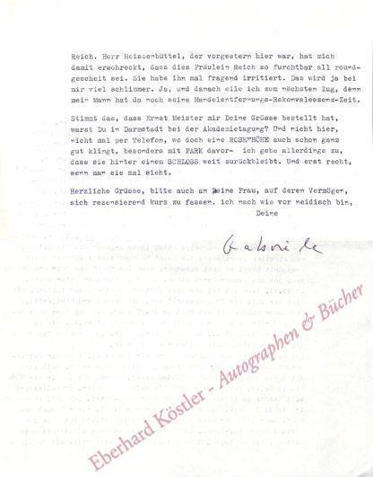 Wohmann, Gabriele, Schriftstellerin (1932-2015).