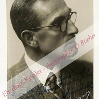 Backer-Gröndahl, Fridtjof, Komponist und Pianist (1885-1959).