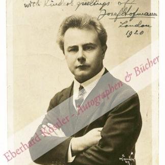 Hofmann, Josef, Pianist und Komponist (1876-1957).