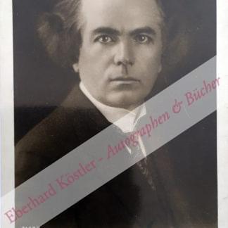 Kubelik, Jan, Geiger und Komponist (1880-1940).