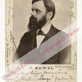Hawel, Rudolf, Schriftsteller (1860-1923).