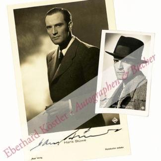 Stüwe, Hans, Schauspieler und Opernregisseur (1901-1976).