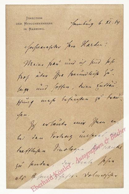 Bendixen, Friedrich, Nationalökonom und Bankier (1864-1920).