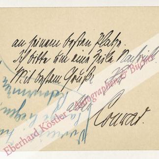 Conrad, Michael Georg, Schriftsteller (1846-1927).