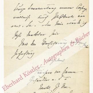 Cramm-Burgdorf, Christian Friedrich Adolf Burghard von, Schriftsteller und Diplomat (1837-1913).
