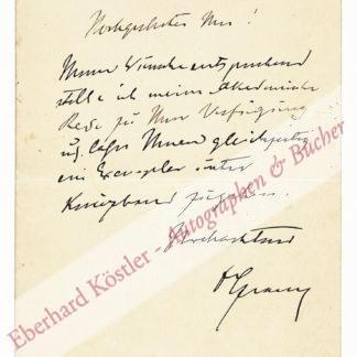 Czerny, Vinzenz, Onkologe, Chirurg und Hochschullehrer (1842-1916).