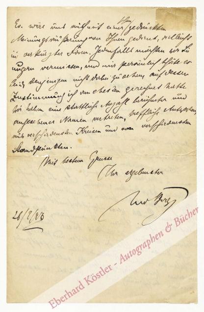 Berg, Leo, Schriftsteller (1862-1908).