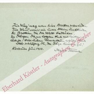 Thoma, Hans, Maler und Zeichner (1839-1924).