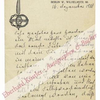 Gerhard, Adele, Schriftstellerin (1868-1956).