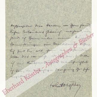 Holitscher, Arthur, Schriftsteller (1869-1941).