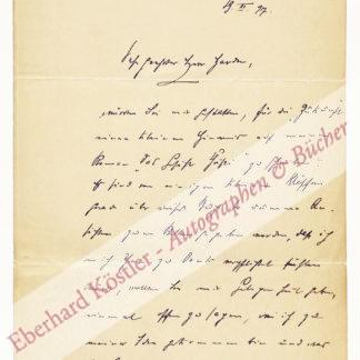 Kretzer, Max, Schriftsteller (1854-1941).