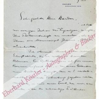 Friedlaender-Prechtl, Robert, Schriftsteller und Unternehmer (1874-1950).