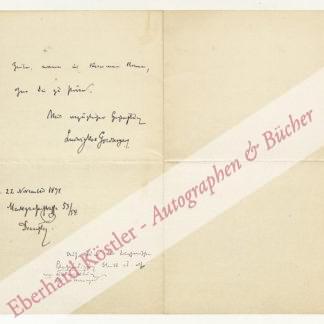 Goldberger, Ludwig Max, Bankier und Wirtschaftspolitiker (1848-1913).