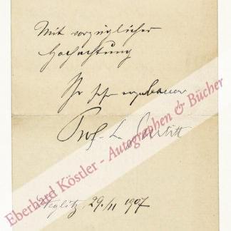 Gurlitt, Ludwig, Pädagoge und Karl-May-Forscher (1855-1931).